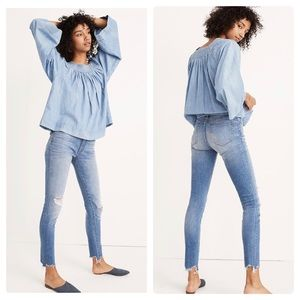 """New Madewell Petite 9"""" Mid-Rise Skinny Jeans P32"""